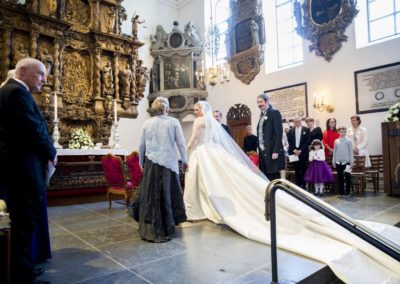 The Wedding Ceremony: At the altar – just before the ceremony.