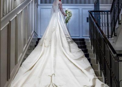 The Reception: The wedding dress, designed by Karim Feyzi.