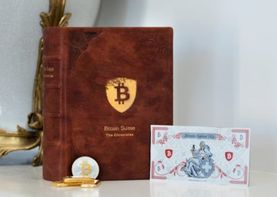 The Reception: A most thoughtful gift from the very first of the Bitcoin Suisse employees: The complete, illustrated story of the company, from the first days in 2013.