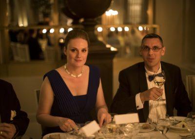 Dinner: Maid of honor to the bride, Ankir Lygum and partner Jesper von Eyben.