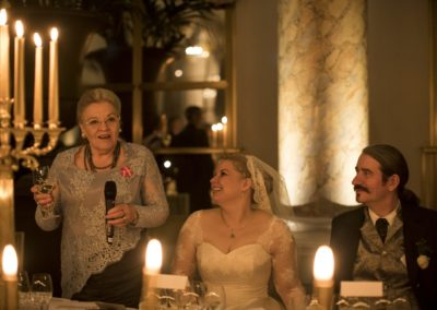 Dinner: The first speech, from the mother-of-the-bride.