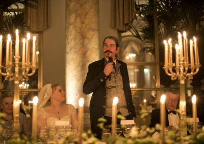 Dinner: The second speech, from the groom.