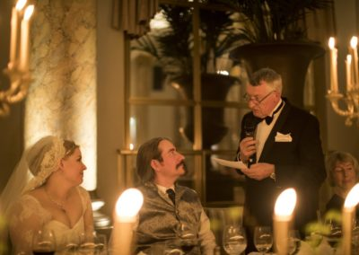 Dinner: The third speech, from the father of the groom, Niels Nikolajsen.