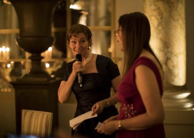 Dinner: The fourth speech, from the sisters of the groom, Mette-Marie and Lise-Lau Nikolajsen.